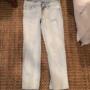 Carmar light wash lightly ripped jeans size 26